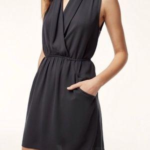 Aritzia Wilfred Sabine Dress Black M